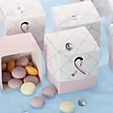 """A favor de una cura"" caja de color rosa a favor de la cinta (juego de 12)"