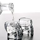 Mini calavera de cristal mercancías de la bebida de whisky taza cabeza chupito de vodka para bar en casa