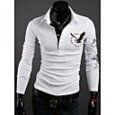 Camisa DAYD Delgado Águila Tatuaje de solapa Polo (Blanco)