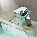 baño grifo del fregadero con caño de vidrio (cromado) - espolvorear  por lightinthebox