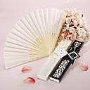 abanico de seda de lujo en elegante caja, regalo de corte por láser (juego de 4)