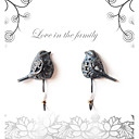 Antique Couple Birds gancho de metal 2pcs Set