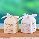 Bride Groom Cut-out Favor Boxes - Set of 12(More Colors)