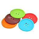 Diseño del botón del grueso fieltro Copa Coaster A HLI-83938 (color al azar)
