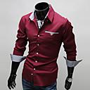 bodycon camisa de manga larga de los hombres casuales zj.sm