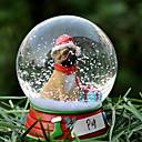 Precioso Pug decorativo Bola de cristal del ornamento regalo de Navidad para los amantes de mascotas