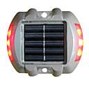 Cubierta Solar Light Light Underground, 6pcs super brillante LED, aleación de plástico y aluminio