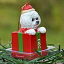 Linda Bichon Frise Ornamento decorativo regalo de Navidad para los amantes de mascotas