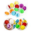 12pcs diferentes formas y colores Half Huevos Juguetes coincidentes (color al azar)