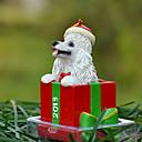 Lindo caniche decorativo Ornamento del regalo de Navidad para los amantes de mascotas