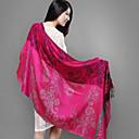Qing Yu fucsia Tassel Spinning Wool Scarf