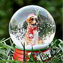 Precioso Boxer decorativo Bola de cristal del ornamento regalo de Navidad para los amantes de mascotas