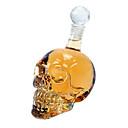 500ml tamaño grande Crystal Skull Head Botella Vodka con el paquete al por menor