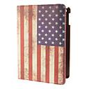 360 grados que giran el diseño de la bandera americana del modelo del caso del cuerpo completo de la PU con el soporte para iPad Aire