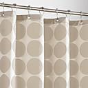 "Cortina de ducha Beige Dots gruesa tela resistente al agua W71 ""x L71"""