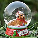Encantadora Dachshund decorativo Bola de cristal del ornamento regalo de Navidad para los amantes de mascotas