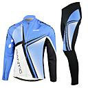 Azul SANTIC-hombres y Negro Fleece Suit Ciclismo Manga Larga
