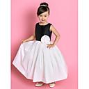 A-Line joya la tobillo-longitud tafetán vestido de niña de flores (733.945)