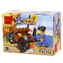 25pcs aclaran 1202 Pirate Car Asamblea Puzzle Toy