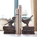 """6 """"Country Style Bird Tipo 1 par Polyresin Sujetalibros"""