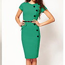 Botones de S  Z mujeres se visten de verde