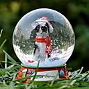 Precioso Boston Terrier decorativo Bola de cristal del ornamento regalo de Navidad para los amantes de mascotas