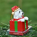 Lindo Crisantemo decorativo Ornamento del regalo de Navidad para los amantes de mascotas