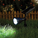 4pcs 0.1W Color Blanco Cálido LED Solar Garden Light Spotlight Lawn