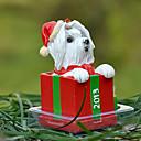 Lindo maltés decorativo Ornamento del regalo de Navidad para los amantes de mascotas