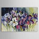 Reproducción en lienzo de arte de la impresión botánica del iris blanco por Rita Auerbach