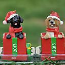 labrador lindo ornamentos decorativos de regalo de navidad para los amantes del animal doméstico (color al azar)
