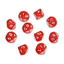 10pcs Decahedron ABS Red Figuras Dices