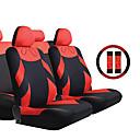 13 piezas / Set Seat Covers universal 2 del asiento delantero y 1 Bench Seat Negro y Red Accesorios para automóviles