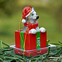 Lindo Husky decorativo Ornamento del regalo de Navidad para los amantes de mascotas