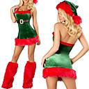 Bebé de la Navidad roja y verde Velvet Classic Costume