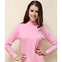 Color sólido cuello alto caliente la ropa interior térmica de la Mujer