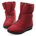Invierno cremallera Mediados de-Becerro Zapatos de mujer