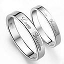 (2 pcs) Moda unisex de plata anillos de los pares de la aleación