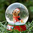 Precioso Yorkshire decorativo Bola de cristal del ornamento regalo de Navidad para los amantes de mascotas