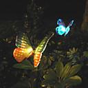 2pcs cambio de color llevado lámpara de jardín de energía solar en el diseño de la mariposa