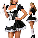 Hot Girl Negro poliéster uniforme de mucama