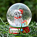 Precioso Schnauzer decorativo Bola de cristal del ornamento regalo de Navidad para los amantes de mascotas