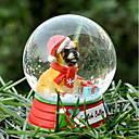Precioso Bulldog Inglés decorativo Bola de cristal del ornamento regalo de Navidad para los amantes de mascotas
