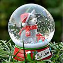 Precioso gatito gato decorativo Bola de cristal del ornamento regalo de Navidad para los amantes de mascotas