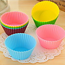 Silicone Cupcake Wrappers - Set of 12 (Random Colors)