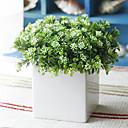 """7 """"Orquídea verde con blanco Jarrón Square"""