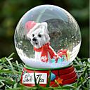 Precioso Crisantemo decorativo Bola de cristal del ornamento regalo de Navidad para los amantes de mascotas
