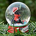 Encantadora French Bulldog decorativo Bola de cristal del ornamento regalo de Navidad para los amantes de mascotas