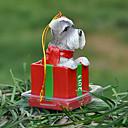 Lindo Schnauzer decorativo Ornamento del regalo de Navidad para los amantes de mascotas