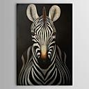 Pintado a mano la pintura al óleo Animal Cebra con el marco de estirado 1311-AN1147